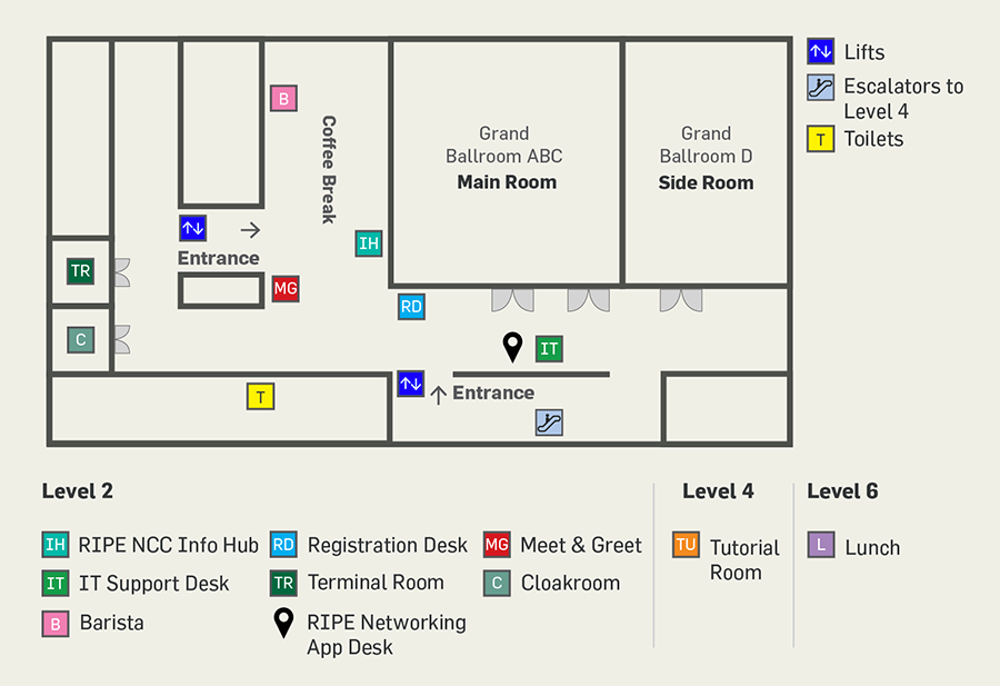 RIPE 75 Meeting Floor Plan